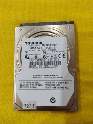 Disco Duro TOSHIBA de 320GB para portátil
