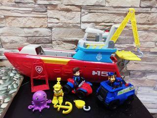 barco patrulla canina + figuras
