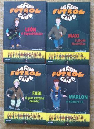 Pack 4 libros Las fieras del Futbol