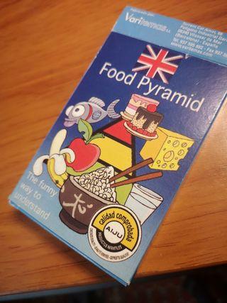 cartas educativas inglés español de alimentos.
