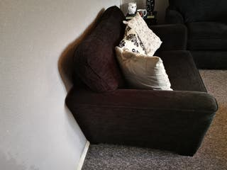 chenille Snuggle chairs and ottoman