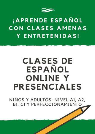 Clases de español (Spanish lessons)