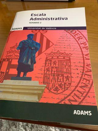 Libro Escala Administrativa Temario 2