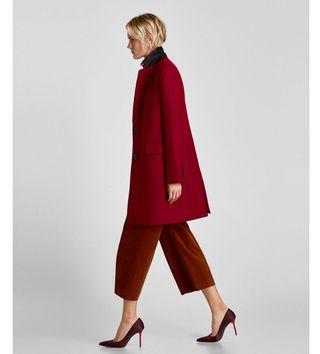 abrigo corte masculino zara