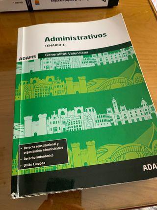 Libro Administrativos Temario 1