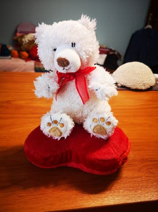 oso blanco guardasecretos lacito rojo I love you