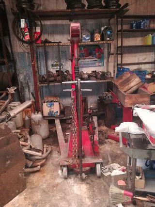 Grúa de taller mecánico