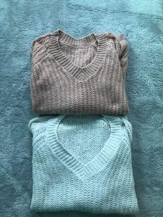 Pares de jerseys de lana