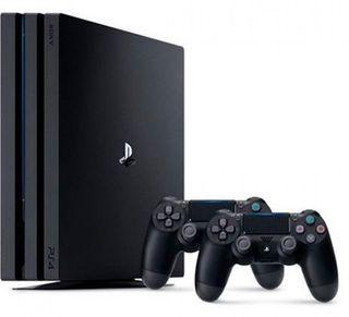 PS4 Pro 1tb + soporte con ventilador + 2 mandos