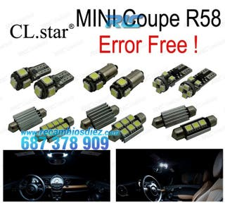 KIT 12 BOMBILLAS LED INTERIOR MINI COOPER COUPE R5