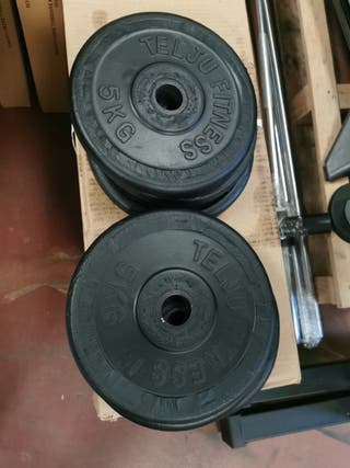 35kgs en Discos Telju 28mm