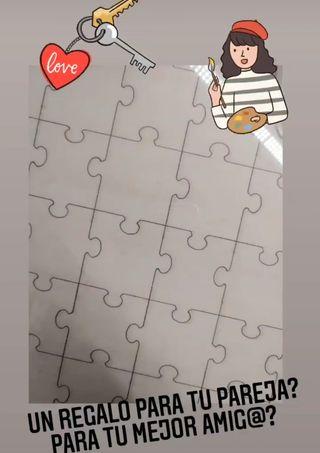 llaveros forma de puzzle