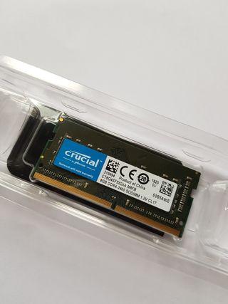 Crucial Memoria RAM 8GB (DDR4, 2400MT/s, SODIMM)
