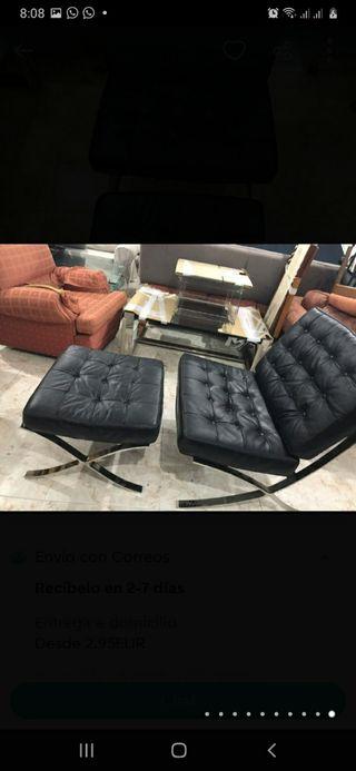sillón barcelona piel