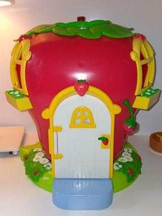 casa maletín Tarta de fresa Charlotte aux fraises