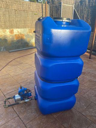Depósito agua potable y grupo de presión.