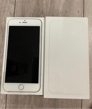 iPhone 6 Plus 64 gb color plata y blanco