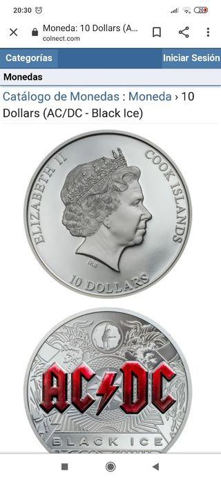 Moneda 10 dólares AC DC coleccionista