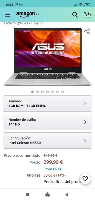 Portátil Nuevo ASUS Chromebook
