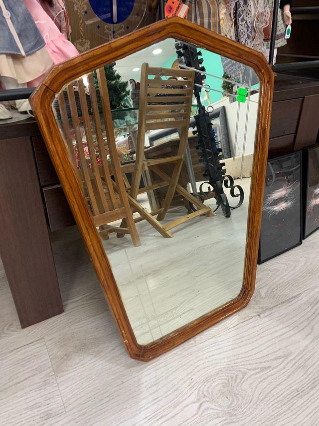 Espejo madera antiguo