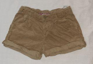 pantalón corto de pana