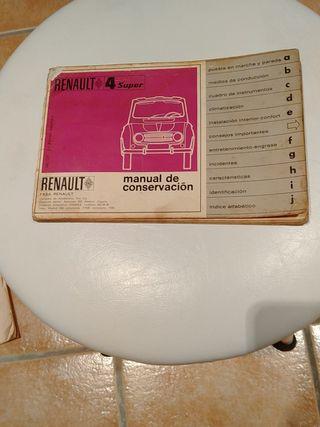 manual de conservación R4 super