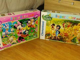 puzzle de campanilla y Minnie para más de 3 años