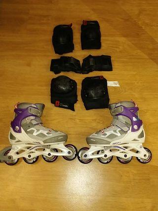 patines y protecciones