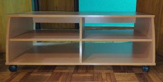 Mesa para tv con baldas