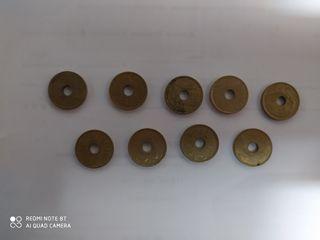 vendo monedas de 25.pesetas antigua