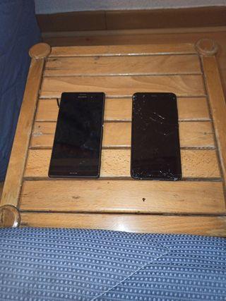 Sony Xperia Z3 y Huawei P10. Para piezas