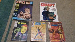 Comics antiguos Capitan America, La Masa, etc...