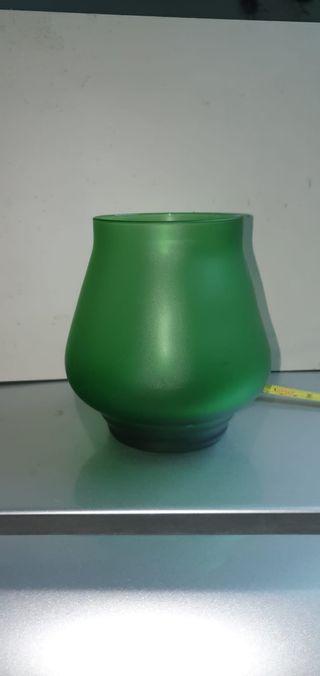 Copa decorativa verde nueva