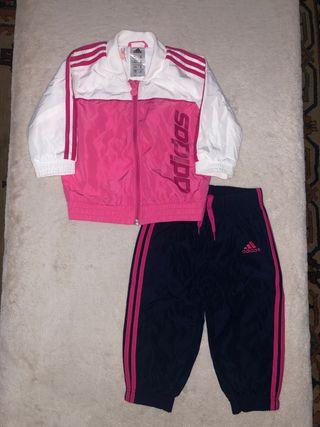 Chandal Adidas rosa y azul