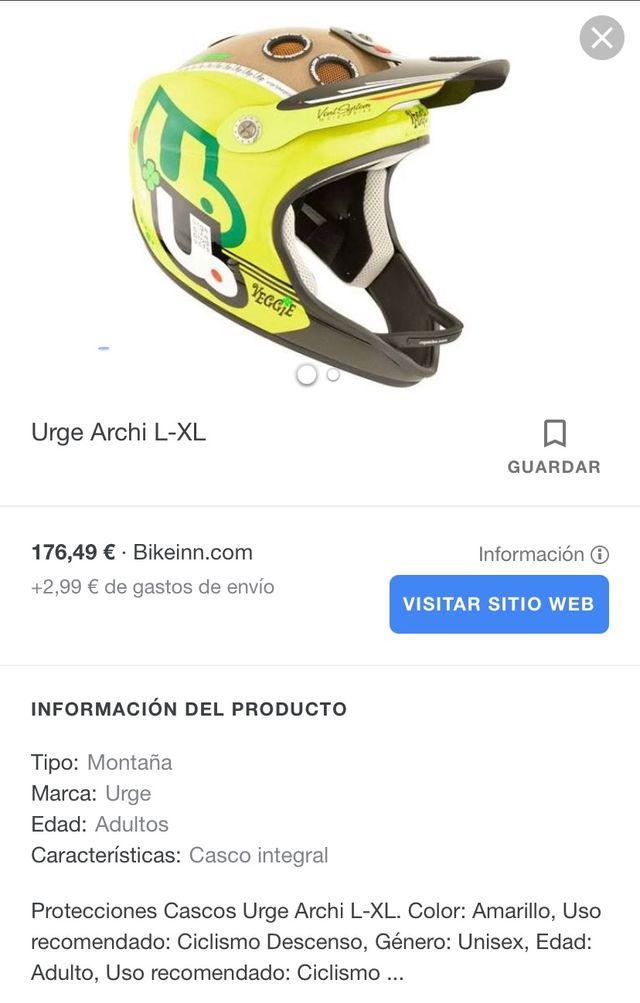 Casco integral Urge Archi Enduro. Regalo cuentakm.