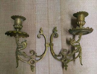 Antiguo candelabro, cobre