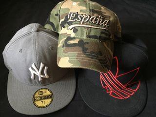 Pack de 3 gorras (New Era, Adidas, Ranger)