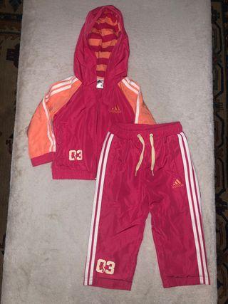 Chandal Adidas rosa y naranja