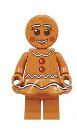 minifigura tipo lego galleta jengibre chica mujer
