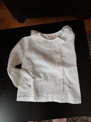 Blusa camisa Plumeti de bebé gocco talla 1y2 años
