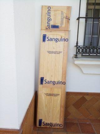 frontal de armario de madera maciza
