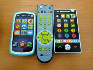 Móvil bebe (X2) y mando TV