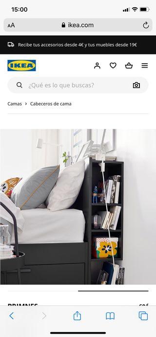 Mueble-Cabecero BRIMNES ikea Negro nuevo