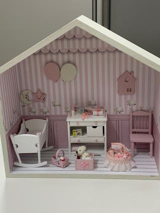 Escena infantil casa de muñecas escala 1:12