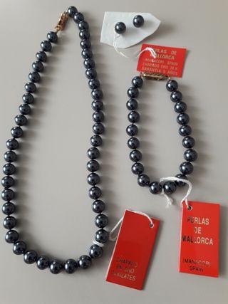 Conjunto collar,pulsera y pendientes
