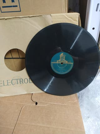 Disco antiguo de pizarra,78 rpm.