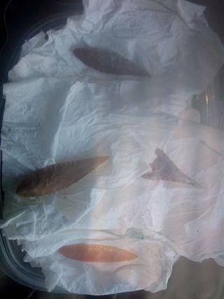 colección flechas de piedra originales