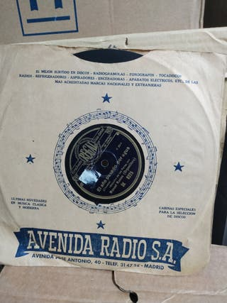 Disco antiguo de pizarra 78 rpm.