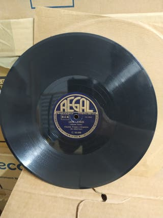Disco antiguo de pizarra 78 rpm