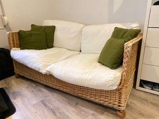 Sofa de mimbre